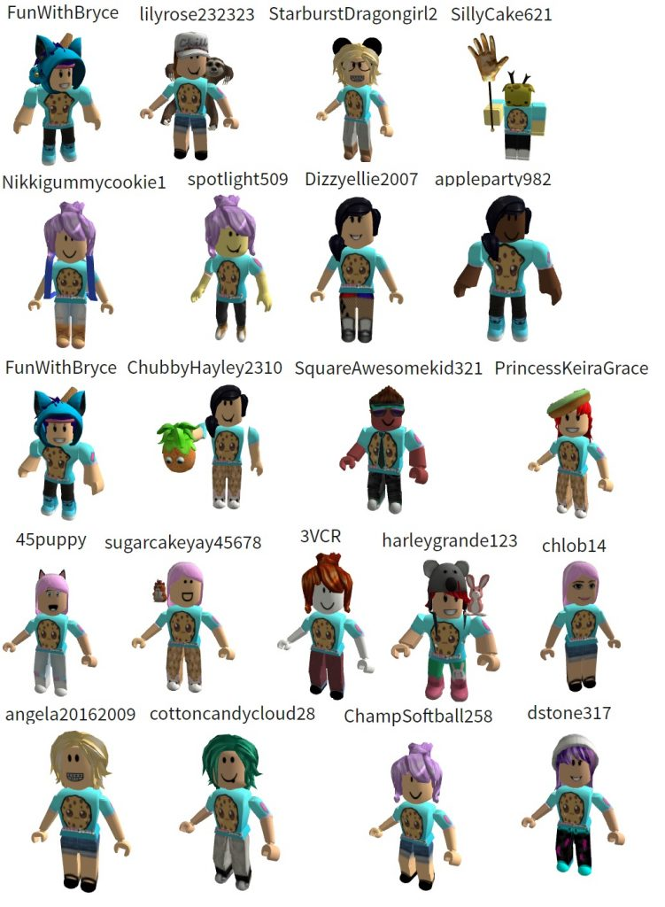 cookie shirts roblox