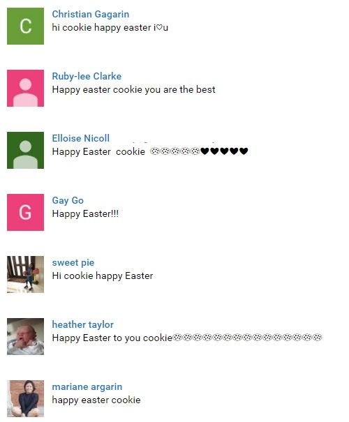 happy easter cookie fans